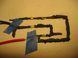 My first paper and glue circuit.
