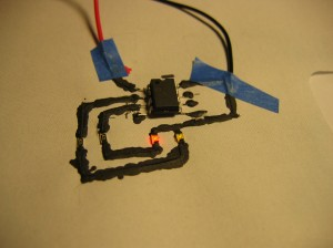 The circuit is being power by 4.5V.